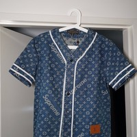 Supreme x Louis Vuitton Baseball Jersey size 52