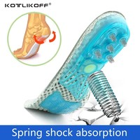 EVA Spring silicone sole insole flat feet orthotic insoles arch support orthopedic inserts Plantar Fasciitis,Feet Pain,foot care