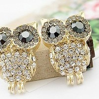 Change 3D Rhinestone Cute Owl Earring:Amazon:Arts, Crafts & Sewing