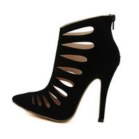 Hollow Out High Heel Pointed Toe Shoes = 4814683396