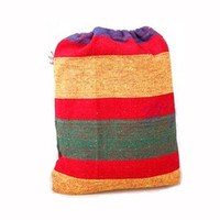 Portable Canva Hammock Swing Hang Sleeping Bed Outdoor Camp Travel Beach with Cotton Rope Red