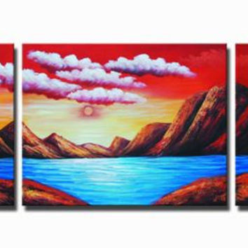Fire on the Mountains Canvas Wall Art
