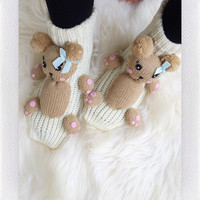 Knit Animal Socks- (MORE)