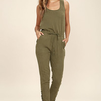 Ysabel Olive Green Jumpsuit