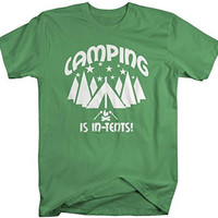 Shirts By Sarah Men's Funny Camping Is In Tents Camper T-Shirt