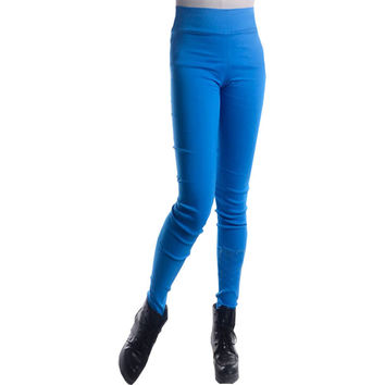 High Waist Stretch Slim Trousers