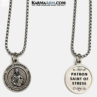 St. Dymphna Necklace | Patron Saint of Stress, Anxiety and Mental Health | Miracle Medal Jewelry