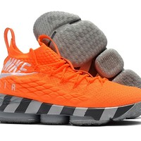 Nike LeBron 15 EP Orange Sport Shoe 40-46
