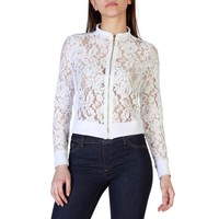 Fruscio White Mandarin Long Sleeves Jacket