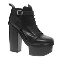 ASOS PREMIUM ALL FIRED UP Leather Ankle Boots