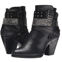 Yellow Box Shiela Heeled Booties Black