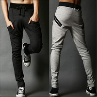 Harem Pants Casual Skinny Sweatpants Sport Pants Pantalon Homme Trousers Drop Crotch Jogging Baggy Pants Men Boys Joggers HipHop [9221787716]