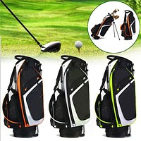 3 Colors 14 Pockets Foldable Golf Bag Outdoor Sport Club Stand Waterproof Golf Stick Storage Bag