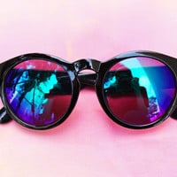 Grunge Gal Mirrored Sunglasses
