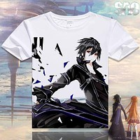 Anime Unisex Tops Tee casual t-shirt for men Sword Art Online katana kirito T-shirts anime shirts men fashion t shirts