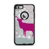 The Pink Stitched Deer Collage Apple iPhone 6 Plus Otterbox Defender Case Skin Set
