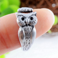 Fashion owl alloy ring