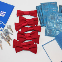 Doctor Who PARTY FaVoRs for 8 bow ties are cool TARDIS keys perception filters Tardis journals River Song and PSYCHIC paper