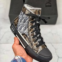 Kuyou Fa1973 Dior 2019 High-top Canvas Shoes For Women And Men