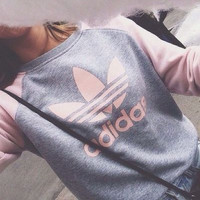 "Fashion ""Adidas"" Pullover Tops Sweater Sweatshirts"