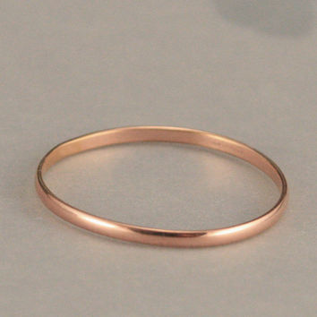 Rose Gold Filled Super Skinny Minnie Plain Jane Stacking Ring or Wedding Band--Thin Rose Gold Filled Midi Ring