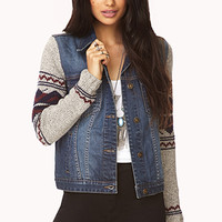 Fair Isle Denim Jacket
