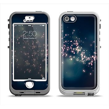 The Dark & Glowing Sparks Apple iPhone 5-5s LifeProof Nuud Case Skin Set