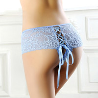 Hollow Lace Up Crisscross Underpant Brief Panty