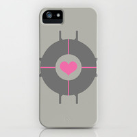 Portal - Companion Cube iPhone & iPod Case by Adrian Mentus
