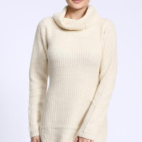 Cut Out Tunic Sweater