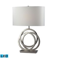 Trinity LED Table Lamp In Polished Nickel With Pure White Shade Polished Nickel