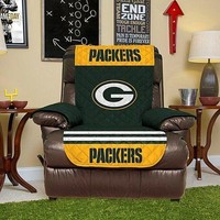 Green Bay Packers Reversible Recliner Protector