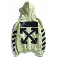 Off ow white champion hooded hooded sweater long sleeve sport coat for both men and women