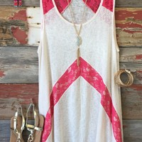 Lace in the Lines Tunic Top