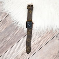 Upcycled LV Monogram Apple Watch Buckle Band