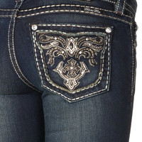 Miss Me Paris Cutout Border Boot Cut Jean