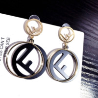 Fashion FENDI FF Earring Studs