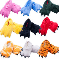 Unisex Cosplay Plush Slippers Animal Paw Indoor Slippers Shoes Cotton shoes