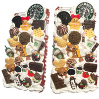 Made to Order! Starbucks Rilakkuma Chocolate Fudge Drip Transparent Case for iPhone and Samsung