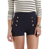 High-Waisted Sailor Shorts by Charlotte Russe