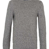 Black And White Twist Jumper - Men's Jumpers & Cardigans  - Clothing