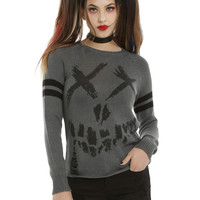 DC Comics Suicide Squad Logo Intarsia Girls Sweater