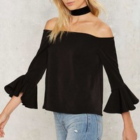 Take It or Sleeve It Off the Shoulder Top