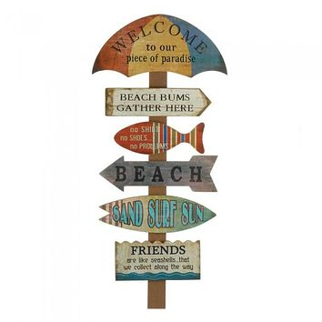 Welcome to the Beach Wood Wall Decor