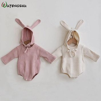 Rabbit Baby Clothes Girl Romper Baby Spring Clothes Newborn Long Sleeve Boys Jumpsuit Baby Girl Clothes Infant Onesuit Costume