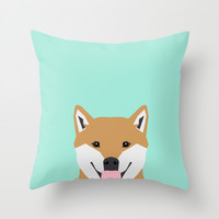 Cassidy - Shiba Inu gifts for dog lovers and cute Shiba Inu phone case for Shiba Inu owner gifts Throw Pillow by PetFriendly
