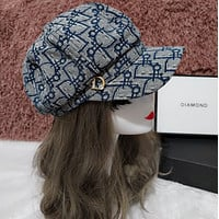 Dior Women Embroidered Baseball Cap Hat