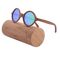 Luxury Red Sandal Wood Sunglasses Women Men Polarized Sunglasses Retro Vintage Mirror Coating Glasses Oculos De Sol 6019