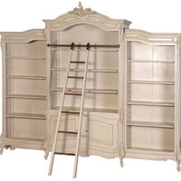 Maison painted bibliotheque