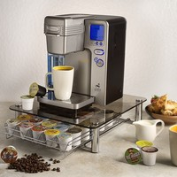 Deluxe Glass Coffee Drawer for Keurig Single Serve Kcups Holds 35 K-cups By Fevodesign